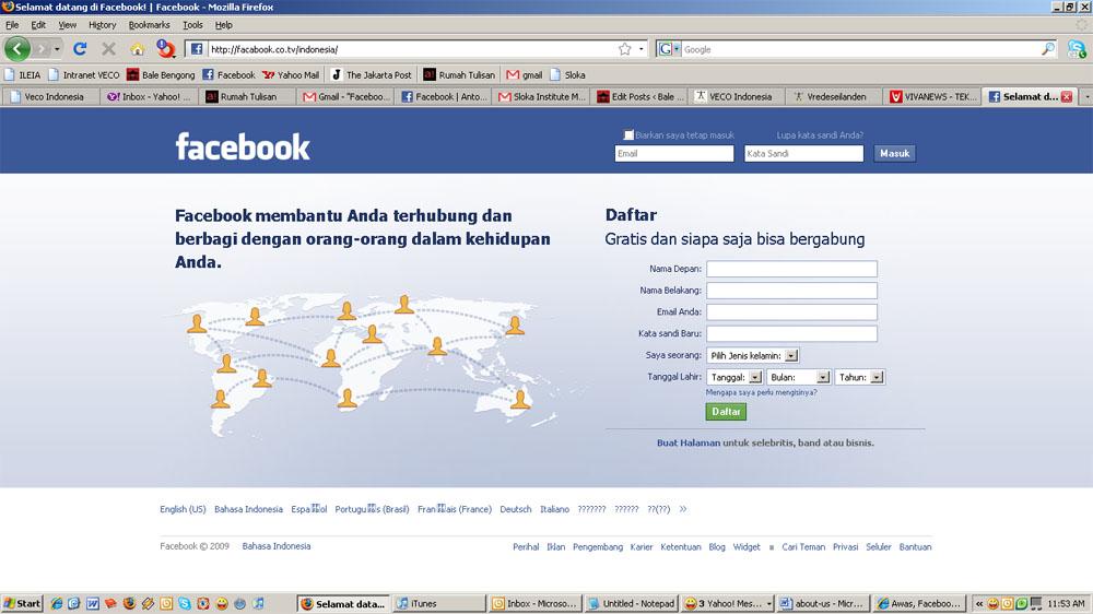 Facebook Palsu