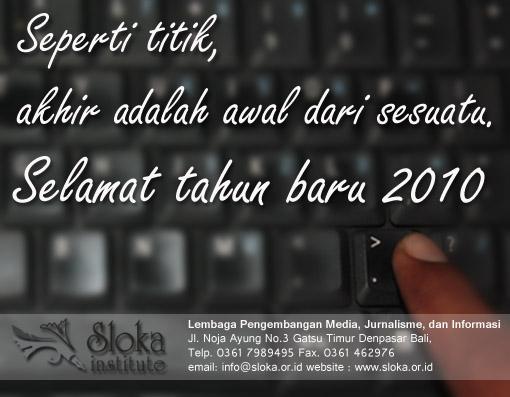 Kartu Selamat Tahun Baru Sloka Institute