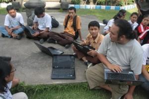 Akses Internet pas Pelatihan Blog
