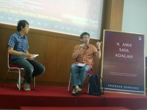 Diskusi Andreas Harsono tentang A9ama Saya Adalah Jurnalisme
