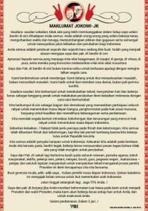 Maklumat Jokowi - JK